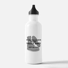Army Grandma Granddaughter wears CB Water Bottle