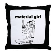 Material Girl - Sewing Throw Pillow