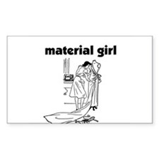 Material Girl - Sewing Rectangle Decal