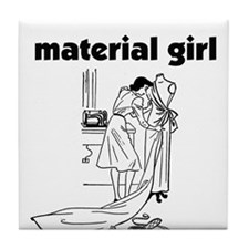 Material Girl - Sewing Tile Coaster