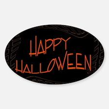 Orange Black Happy Halloween Decal