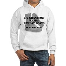 Army Grandma Grandson wears CB Hoodie