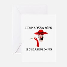 WIFE CHEATING Greeting Cards (Pk of 10)