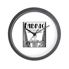 Fabric - Never Too Much Wall Clock