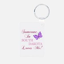 South Dakota State (Butterfly) Keychains