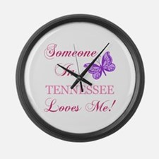 Tenessee State (Butterfly) Large Wall Clock