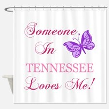Tenessee State (Butterfly) Shower Curtain
