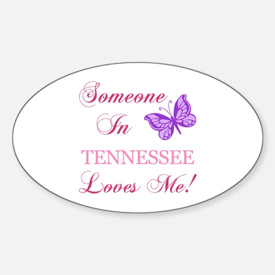Tenessee State (Butterfly) Sticker (Oval)