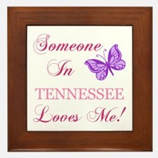 Tenessee State (Butterfly) Framed Tile