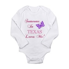 Texas State (Butterfly) Long Sleeve Infant Bodysui