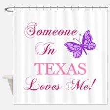 Texas State (Butterfly) Shower Curtain