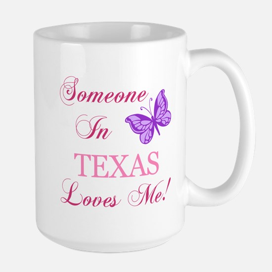 Texas State (Butterfly) Large Mug
