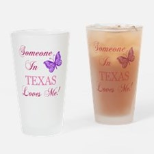 Texas State (Butterfly) Drinking Glass