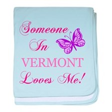 Vermont State (Butterfly) baby blanket