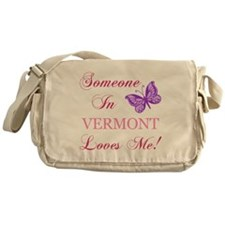 Vermont State (Butterfly) Messenger Bag