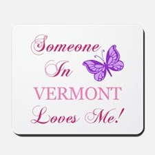 Vermont State (Butterfly) Mousepad