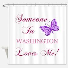 Washington State (Butterfly) Shower Curtain
