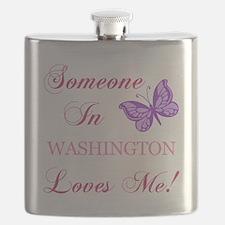 Washington State (Butterfly) Flask