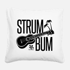 Strum Bum Square Canvas Pillow