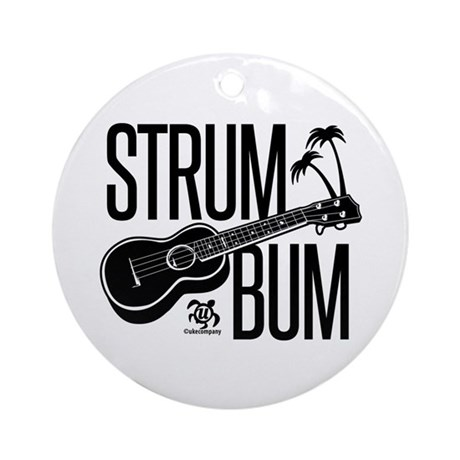 Strum Bum Ornament (Round)