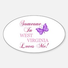 West Virginia State (Butterfly) Sticker (Oval)