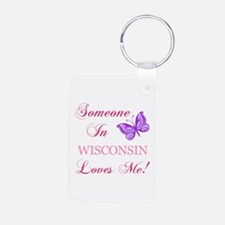 Wisconsin State (Butterfly) Keychains