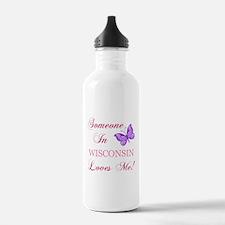Wisconsin State (Butterfly) Water Bottle