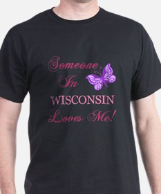 Wisconsin State (Butterfly) T-Shirt