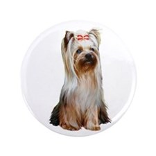 "Yorkshire Terrier (#2) 3.5"" Button"