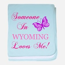 Wyoming State (Butterfly) baby blanket