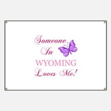 Wyoming State (Butterfly) Banner