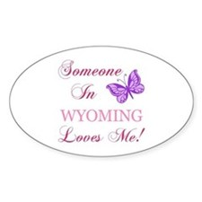 Wyoming State (Butterfly) Decal