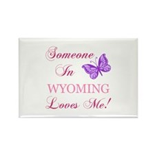 Wyoming State (Butterfly) Rectangle Magnet