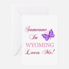 Wyoming State (Butterfly) Greeting Card