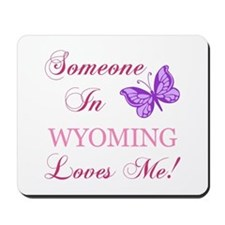 Wyoming State (Butterfly) Mousepad