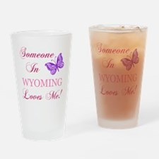Wyoming State (Butterfly) Drinking Glass