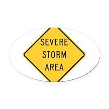 Severe Storm Area Oval Car Magnet