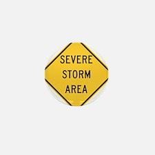 Severe Storm Area Mini Button