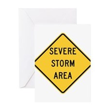 Severe Storm Area Greeting Cards