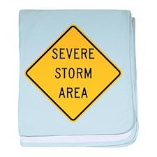 Severe Storm Area baby blanket
