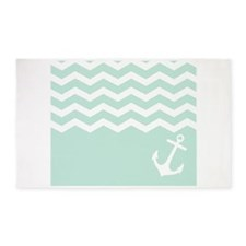 Mint Anchor under waves 3'x5' Area Rug