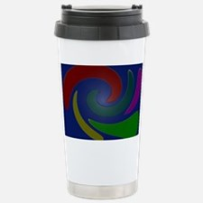 Colorful Mod Blue  Stainless Steel Travel Mug