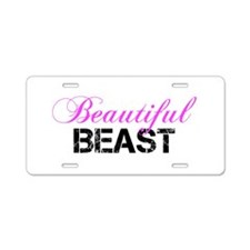Beautiful Beast Aluminum License Plate