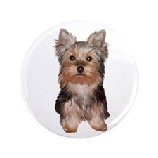 """Yorkshire Terrier Puppy 3.5"""" Button"""