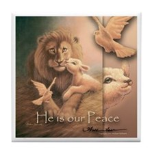 """He is our Peace"" Fine Art Tile Coaster"