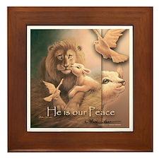"""He is our Peace"" Fine Art Framed Tile"