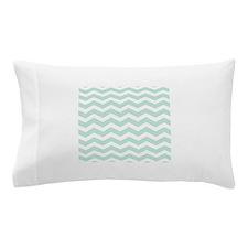 Mint Chevron Pillow Case