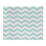 Seafoam green Fleece Blankets