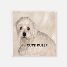"""Maltese CUTE Square Sticker 3"""" x 3"""""""