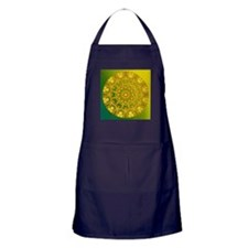 Yellow Green Wheel of Fire Apron (dark)